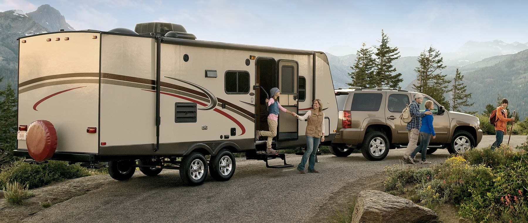 Travel trailers and towable rvs for Motor homes to rent