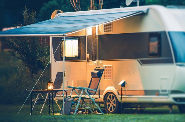 Cozy RV fold out chairs in front