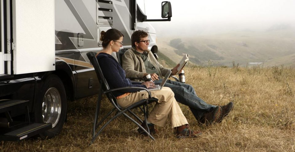 Remote working couple