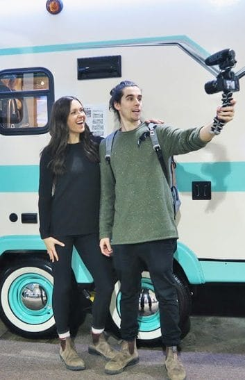 eamon and bec at RV Show