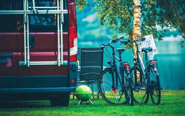 bike by an RV