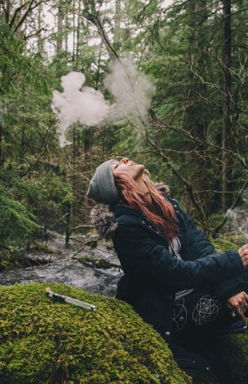 girl smoking cannabis