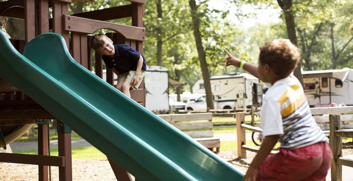 kids in playground