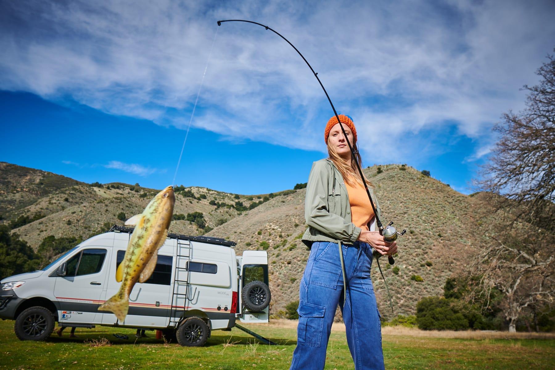 class b motorhome go fishing