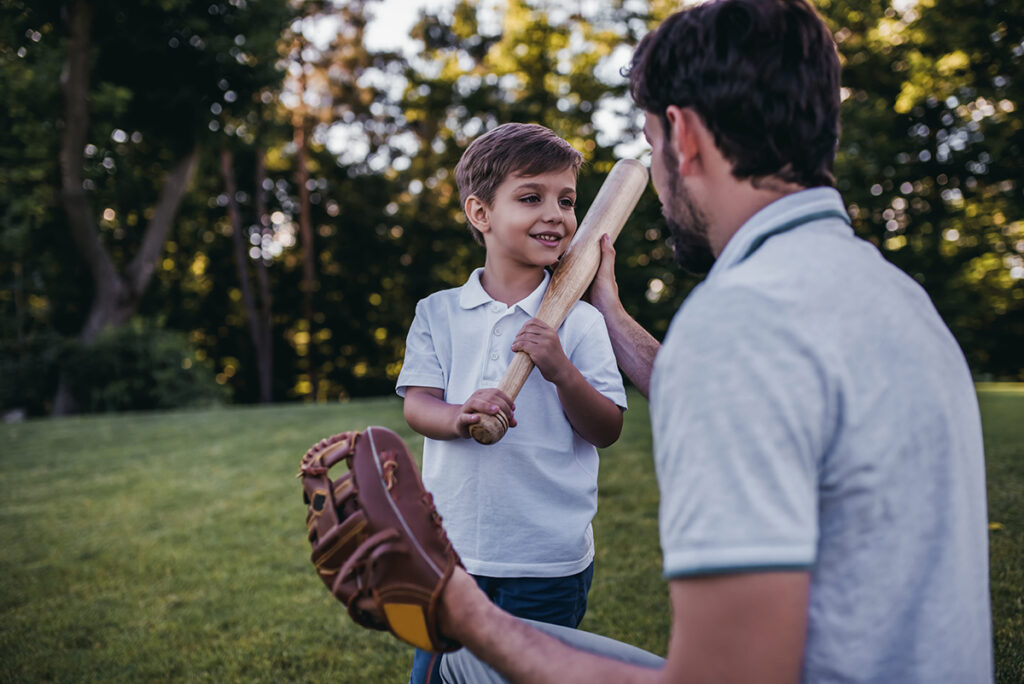 playing catch with father